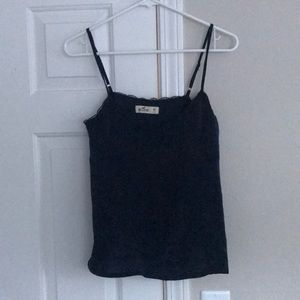 Hollister tank top with lace and silk